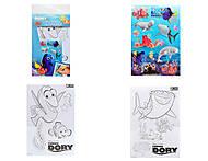 Раскраска с наклейками «Рыбка Дори», 5931-02, купить