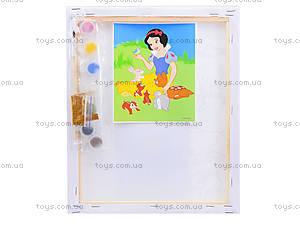 Детская раскраска по номерам «Белоснежка», 4004-18, отзывы