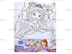 Детская раскраска по номерам «Принцесса София», 4004-22, игрушки
