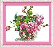 Розовая фантазия, картина для рукоделия, H314
