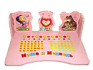 Розовая парта со стулом «Маша и медведь», B18350 (PINK), фото