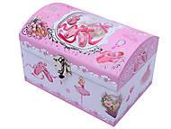 Розовая шкатулка с балериной, B-017AA, купить