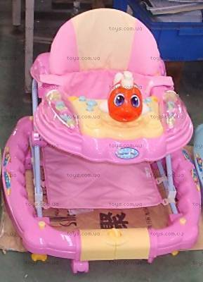 Розовые ходунки, с качалкой, 6220SY PINK