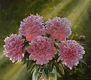 Розовые пионы в вазе, рисование по номерам, КН1119, фото