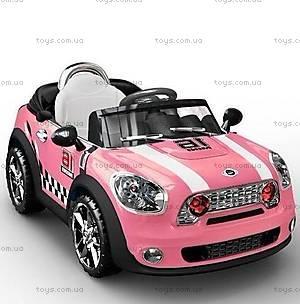 Розовый электромобиль с радиоурпавлением, C-014