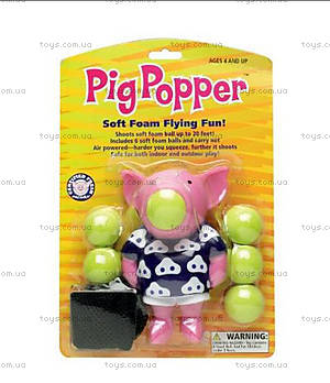 Игрушечный поросёнок-поппер Pig, 27425, фото