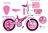 Розовый велосипед для девочек, 171821, фото