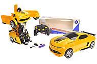 Машинка-трансформер, акумулятор, желтая , 669-3, фото