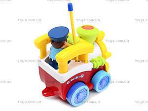 Музыкальный паровозик на радиоуправлении с пультом-рулем, 6705, купить