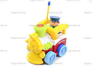 Музыкальный паровозик на радиоуправлении с пультом-рулем, 6705, игрушки