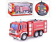Пожарная машина на радиоуправлении, с эффектами, WY995, отзывы