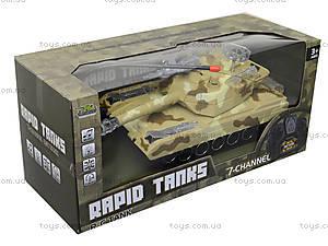 Радиоуправляемый танк в коробке, звук, свет, M1A2-E, игрушки