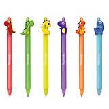 """Ручка автоматическая пиши-стирай 0,5 синяя """"Динозаврики"""", ассортимент, 29928PTR"""