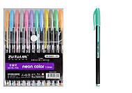 Ручки гелевые металлик, толщина 1 мм, 12 цветов, HC6407-12, интернет магазин22 игрушки Украина