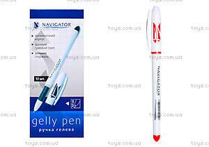 Ручка гелевая красная Navigator, 12 штук, 73901-NV