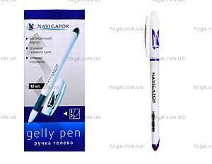 Ручка гелевая фиолетовая Navigator, 12 штук, 73901-NV