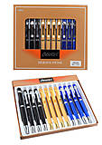 """Ручка шариковая металлический корпус, с поворотом """"Baixin"""", mix 3 цвета (12 штук в упаковке), 321BP-2-5-, тойс"""