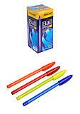 """Ручка шариковая, масляная """"Piano"""" синяя, цветной корпус (50 штук), 1158-PT, купить игрушку"""