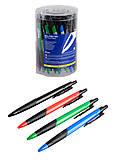 Ручка шариковая автоматическая, с резиновым грипом, 0,7 мм (50 штук), BM.8204, toys