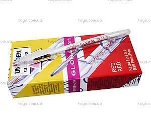 Ручка масляная UnixPen, красная, кансакт, фото