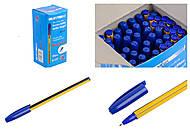 Ручка пластиковая шариковая, толщина 1,0 мм, синяя (упаковка 50 штук), A117с, детские игрушки