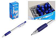 Ручка пластиковая шариковая автоматическая, толщина 1,0 мм, синяя (24 штуки в упаковке), A116с, toys