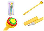 """Ручка шариковая """"Хризантема"""", синяя (12 штук в упаковке), 079-BP, детский"""