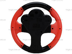 Черно-красный детский руль серии «Веселые гонки», 0582A-11, купить