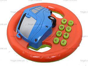 Музыкальный руль на батарейках, 128ABC, toys