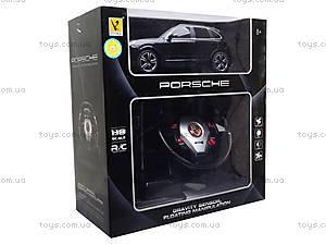 Радиоуправляемая машина Porsche с пультом в виде руля, 866-1815BSW, детские игрушки