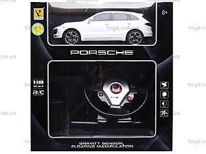 Радиоуправляемая машина Porsche с пультом в виде руля, 866-1815BSW, toys.com.ua