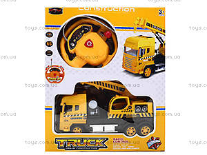 Автокран на радиоуправлении с пультом в виде руля, 666-182FA, toys