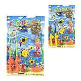 Рыбалка магнитная 10 морских обитателей 2 вида, 13583, детские игрушки