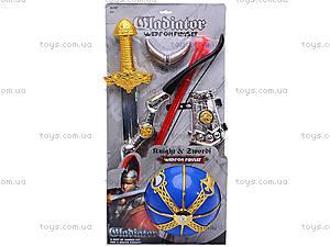 Рыцарский набор с луком и мечом, 6905, отзывы