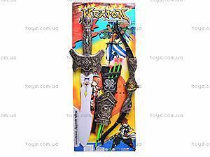 Рыцарский набор с мечом и луком, 528-11, цена