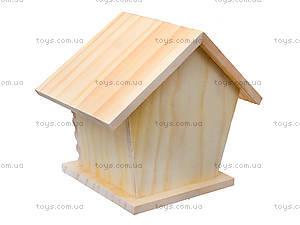 Детский набор для рисования по дереву «Птичий домик», 94222, фото