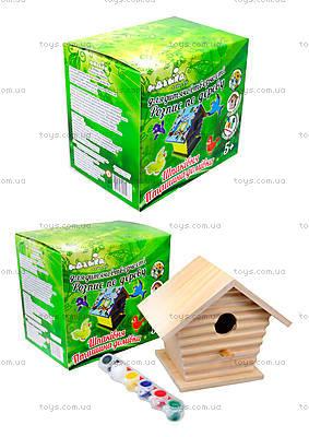 Детский набор для рисования по дереву «Птичий домик», 94222