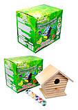Детский набор для рисования по дереву «Птичий домик», 94222, купить