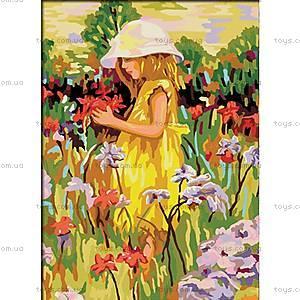 Рисование по номерам «Алиса с цветами», КН022