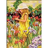 Рисование по номерам «Алиса с цветами», КН022, фото
