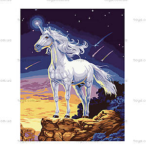 Рисование по номерам «Единорог на скале», КН309