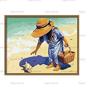 Рисование по номерам «Ракушка на побережье», КН037