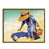 Рисование по номерам «Ракушка на побережье», КН037, фото