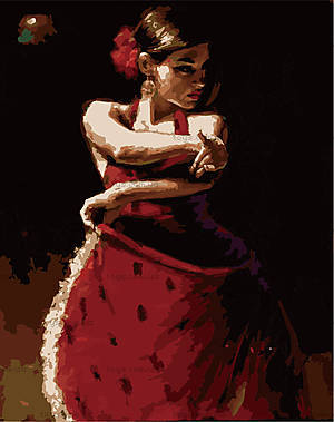 Рисование по номерам «Яркая танцовщица», MG1006