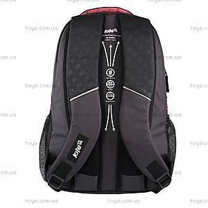 Школьный рюкзак Kite Sport, черно-красный, K14-821-2, фото