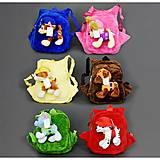 Рюкзак с игрушкой, 6 видов, 555-49, оптом