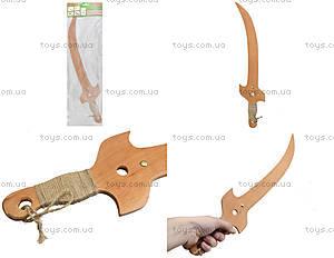 Игрушечная деревянная сабля «Казацкая», 141-012у