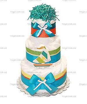 Торт из памперсов для мальчика Sailboat, PPC31