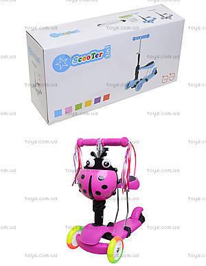 Детский самокат с корзиной и сиденьем, BT-KS-0049