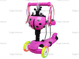 Детский самокат с корзиной и сиденьем, BT-KS-0049, магазин игрушек